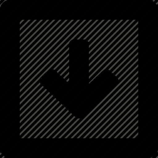 down, square icon