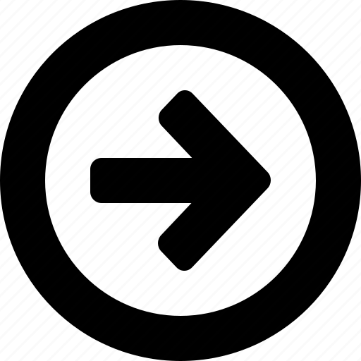 circle, right icon
