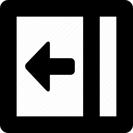 in, left, slide icon