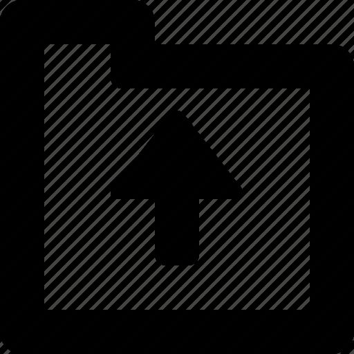 folder, to, upload icon