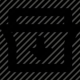 down, fold icon