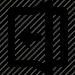 fold, left icon