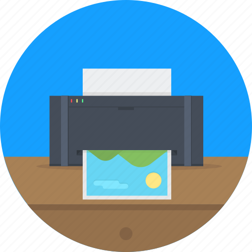 business, fax, machine, office, print, printer, printing icon