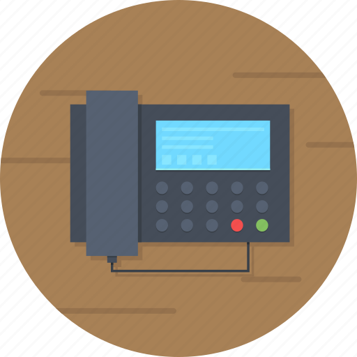 business, fax, line, office, phone, telephone icon