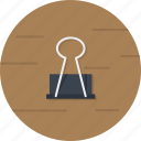 binder, clip, clippers, paperclip, stationery icon