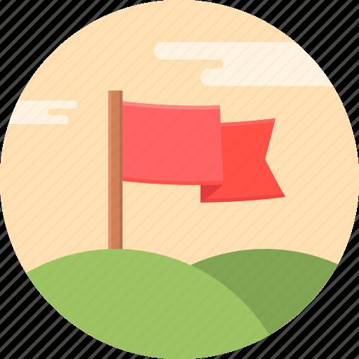 aim, flag, golf, hole icon