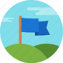 aim, flag, golf, hole icon
