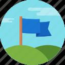 aim, flag, golf, hole