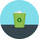 can, delete, junk, recycle, recycle bin, rubbish, trash icon