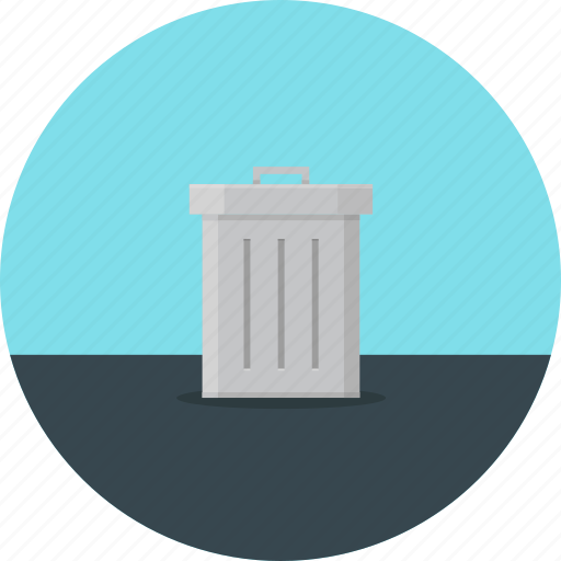 can, delete, junk, recycle bin, rubbish, trash icon