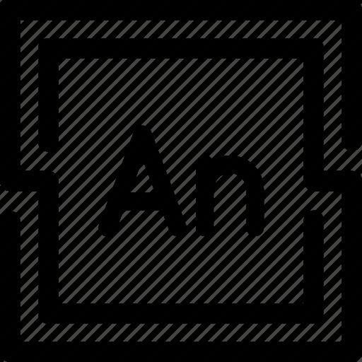 adobe, animate, program, tool icon