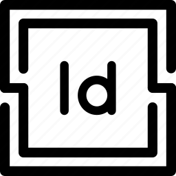 adobe, corporate, curve, design, dtp, indesign, print icon