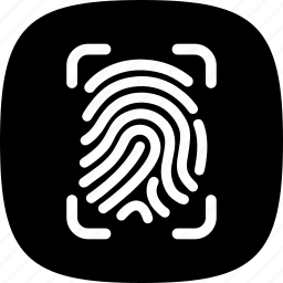 app, applications, drawer, find, finger, fingerprints icon