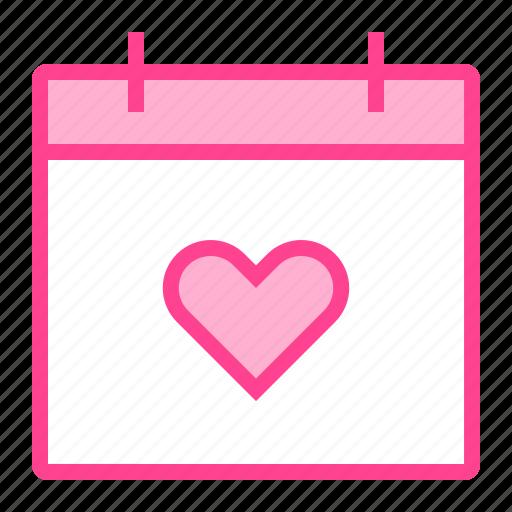 calendar, date, love, schedule, valentine icon