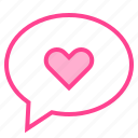 bubble, love, message, talk, valentine icon