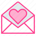 email, love, message, send, valentine icon