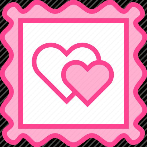 Heart, love, postcard, stamp, valentine icon - Download on Iconfinder