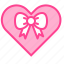 gift, heart, love, present, valentine icon