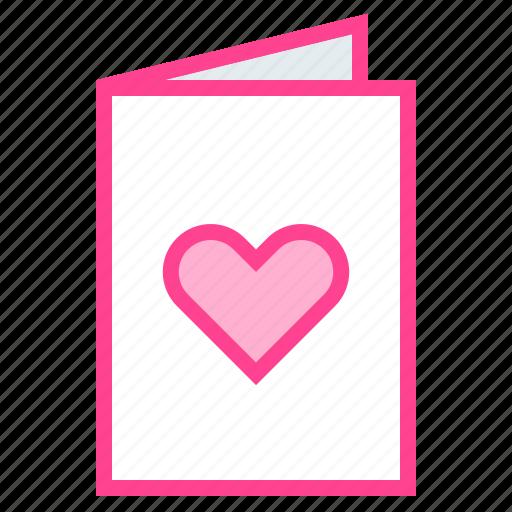 card, greeting, heart, love, valentine icon