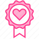 badge, favorite, love, medal, valentine icon