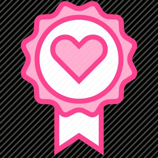 Badge, favorite, love, medal, valentine icon - Download on Iconfinder