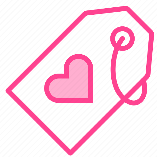 Heart, love, shopping, tag, valentine icon - Download on Iconfinder