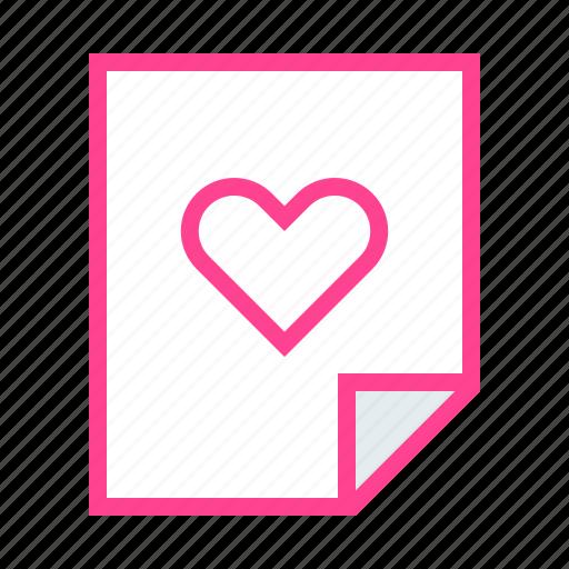 Heart, love, message, note, valentine icon - Download on Iconfinder