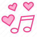 heart, love, music, song, valentine