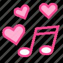 heart, love, music, song, valentine