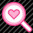 find, heart, love, search, valentine