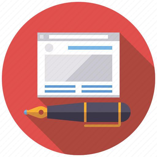 content, copywriting, marketing, seo, service, web, website icon