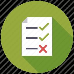 checklist, examination, marketing, seo, service, validation, web icon