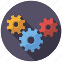 cogs, marketing, seo, service, setup, transmission, web icon