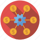 affiliate, cog, marketing, seo, service, setup, web icon