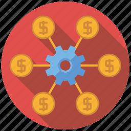 affiliate, cog, marketing, seo, service, setup, web icon