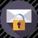 encryption, mail, marketing, message, seo, service, web