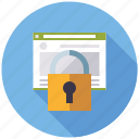 encryption, marketing, secure web page, security, seo, service, web icon
