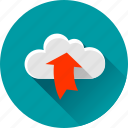 arrow, cloud, up, upload, uploading icon