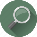 magnifier, magnifying glass, search, zoom icon
