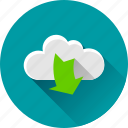 arrow, arrows, cloud, down, download, downloading icon