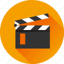 cinema, film, film slate, media, movie, multimedia, video icon
