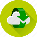 arrow, arrows, cloud, refresh, reload, synchronization, synchronize icon