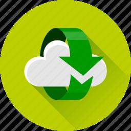arrow, arrows, cloud, refresh, reload, synchronization, synchronize icon