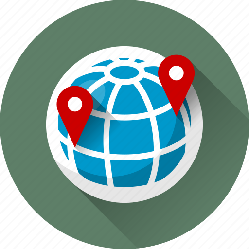 earth, globe, map marker, marker, planet, sphere icon