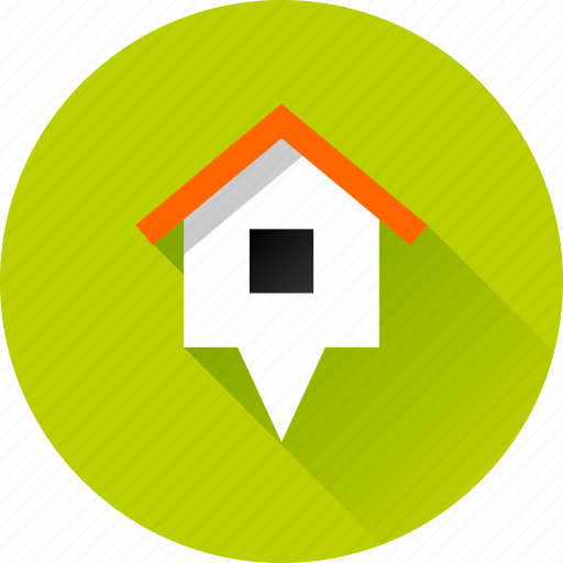 building, home, house, location, map, marker, navigation, pin, pointer icon