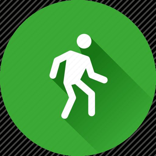 human, pedestrian, walk, walking icon