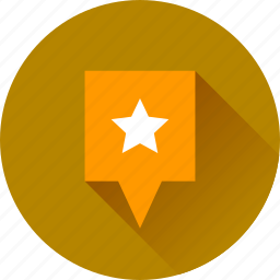 favorite, gps, location, map, marker, navigation, pin, pointer, star icon