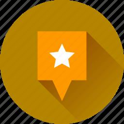 favorite, map marker, marker, star icon