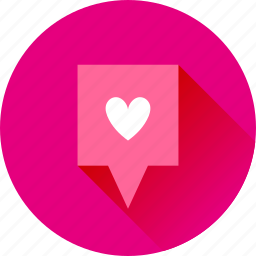 favorite, gps, heart, location, love, map, marker, navigation, pin, pointer icon