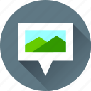 gps, image, location, map, marker, navigation, photo, photography, picture, pin, pointer icon